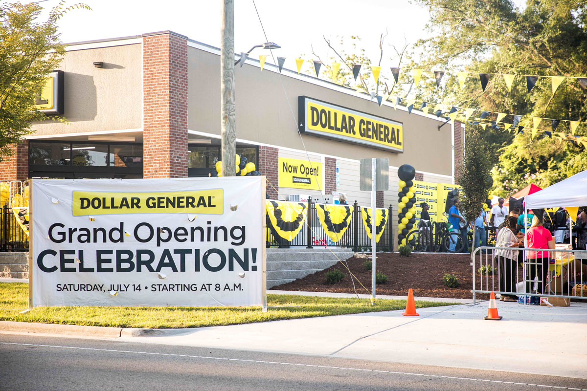 A photo of the grand opening celebration festivities